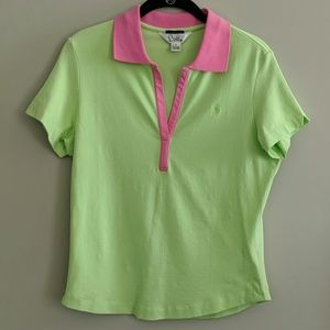 Lilly Pulitzer Shrunken Polo Shirt Size M